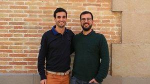 Los cofundadores deHiGuests, Miquel Manzanas (izquierda) y Oriol Plana (derecha).