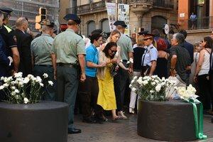 Homenaje a las víctimas de los atentados de Las Ramblas, en el segundo aniversario.