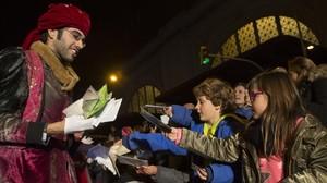 Entrega de cartas para los Reyes Magos en Barcelona, la semana pasada.