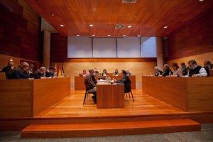 Imagen de archivo de un Pleno municipal del Ayuntamiento de Gavà