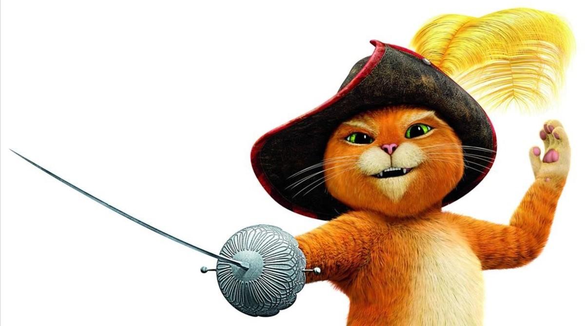 Imagen de la serie Les aventures del gat amb botes.