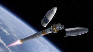 Imatge d'un satèl·lit del programa de navegació per satèl·lit de la UE.