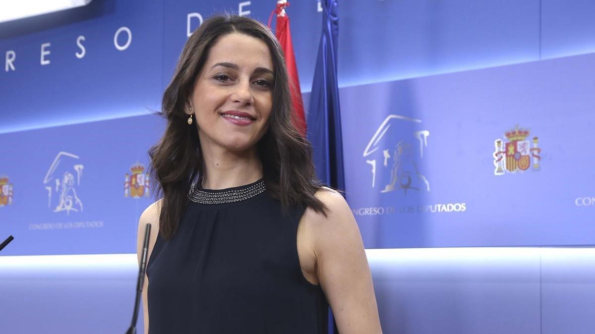 Ines Arrimadas este mediod a en el Congreso de los Diputados