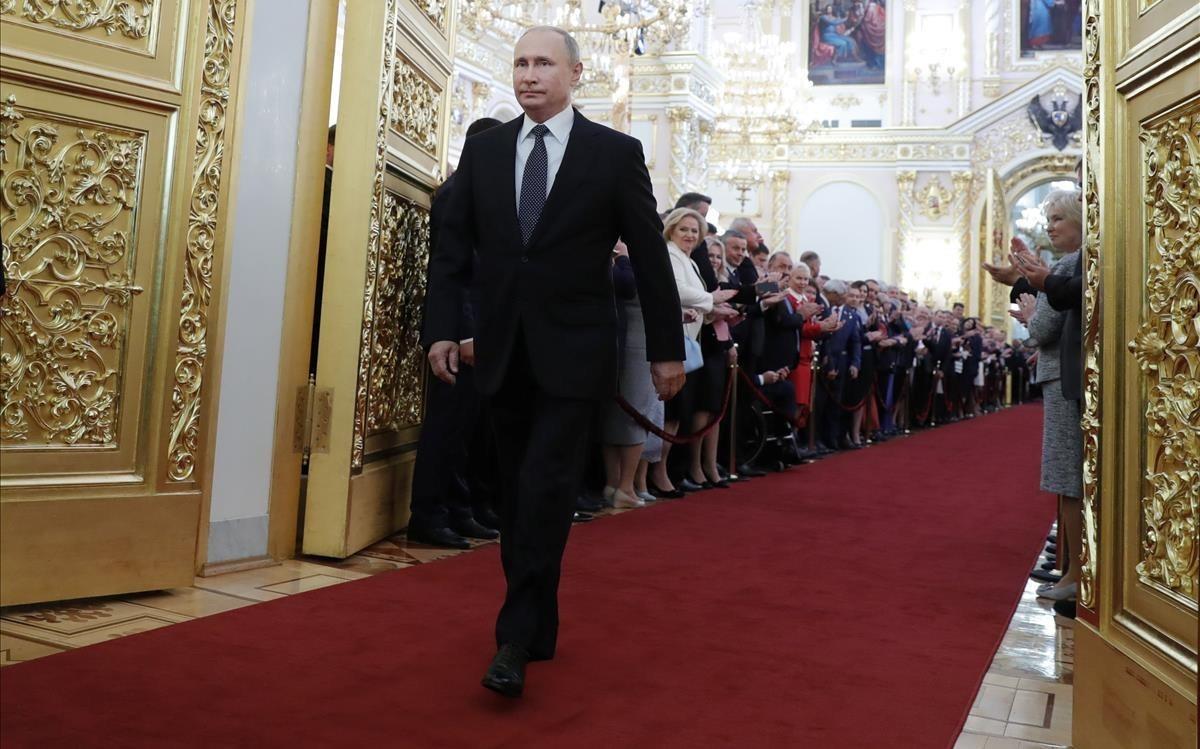 Putin, antes de la sesión de investidura