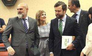 Iván Espinosa de los Monteros en la reunión de la Diputación Permanente del Congreso.