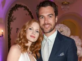 Jessica Chastain yGian Luca Passi de Preposulo, en el Festival de Cine de Cannes, el pasado 20 de mayo.