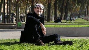 Miguel Gallardo, este miércoles en Arc de Triomf, en Barcelona.