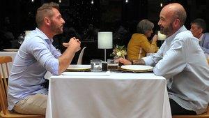 Jose y Higinio en 'First Dates'.