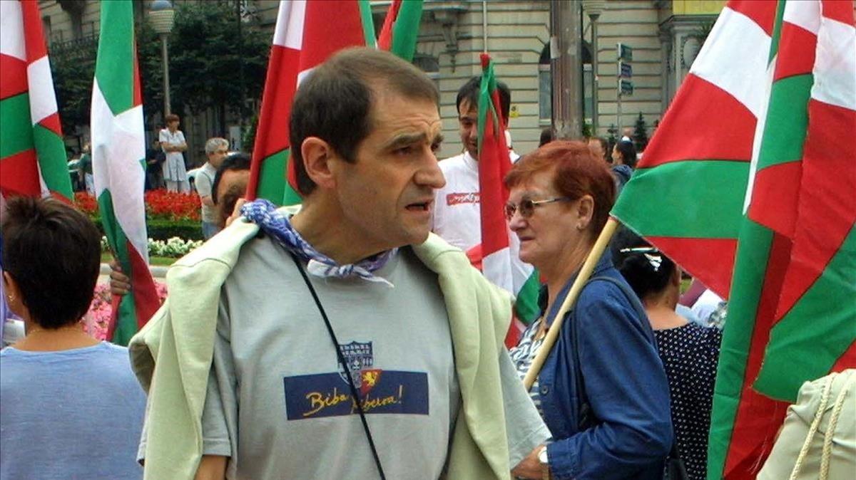 Josu Ternera, en una manifestación aberzale que se celebró en Bilbao en noviembre de 2002.