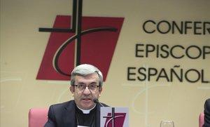 Luis Argüello, secretario general de la Conferencia Episcopal Española, hoy en Madrid.