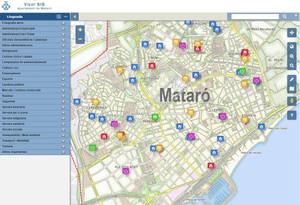 Mataró inclou setze mapes temàtics i interactius a la seva web