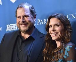 Marc Benioff y su mujer, Lynne, en una gala benéfica celebrada en Beverly Hills, en el 2016.