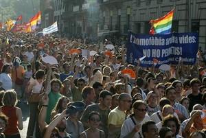 Marcha del Día del Orgullo Gay en Barcelona.