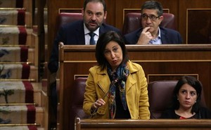 Margarita Robles, portavoz del PSOE, ayer en el pleno.