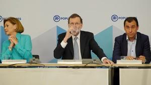 Mariano Rajoy presidiendo el Comité Ejecutivo de Partido Popular.