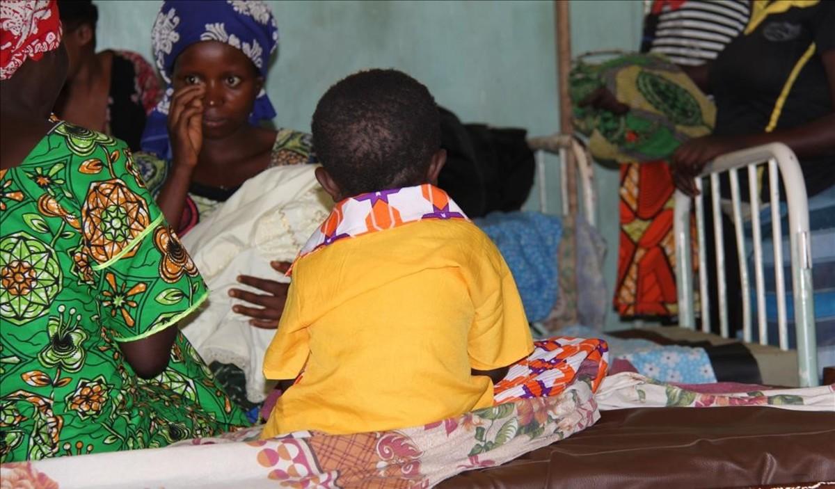 Marie, de 4 años y violada, en el hospiutal de Kirotshe, en la región congoleña de Kivu Norte.