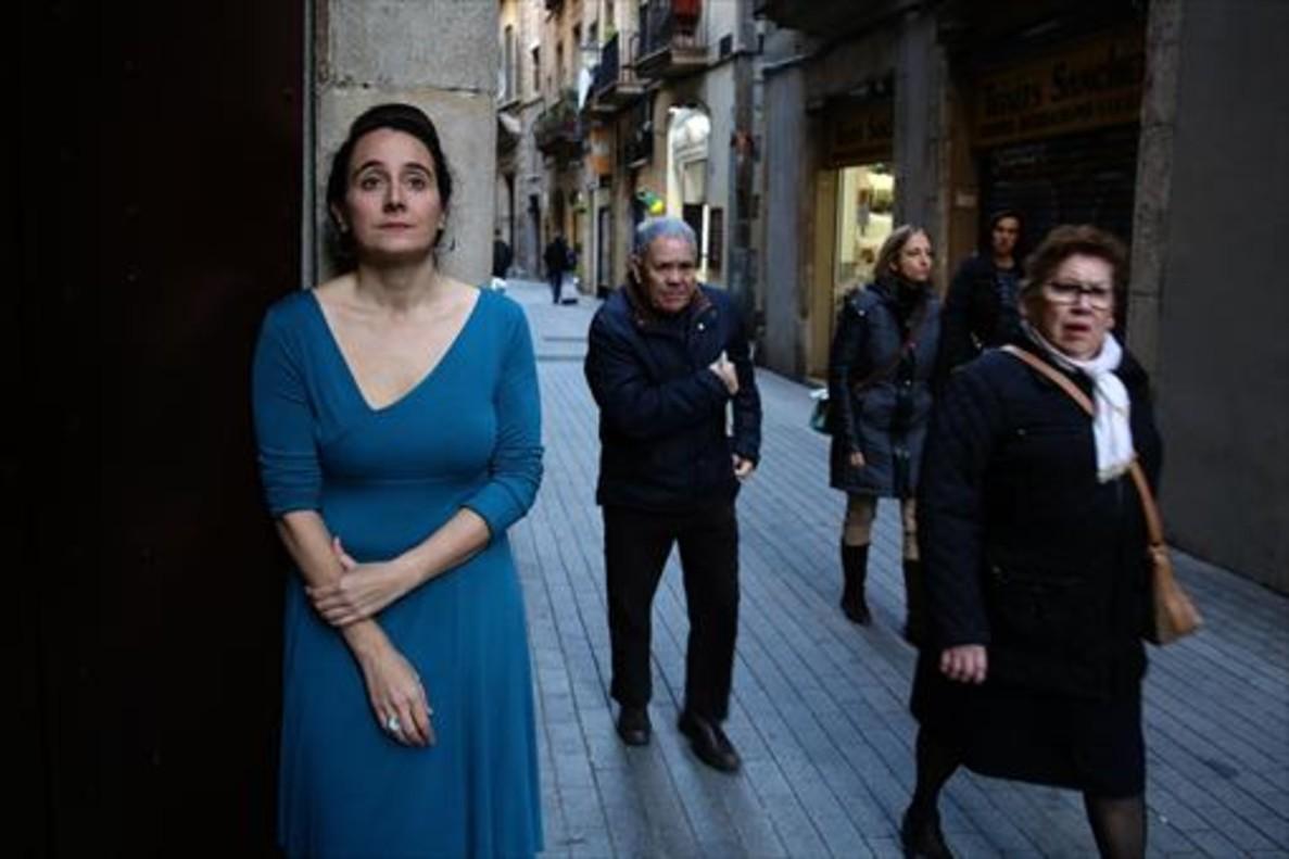Marta Vergonyós, en la entrada del Centre Cultural La Bonne.
