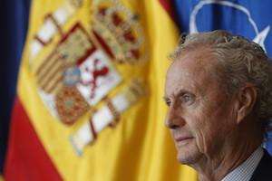 Una foto de Pedro Morenés de 2015, cuando era ministro de Defensa.