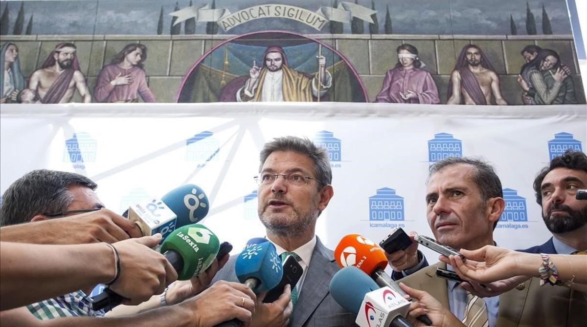 El ministro de Justicia en funciones, Rafael Catalá, en una fotografía reciente en un acto en Málaga