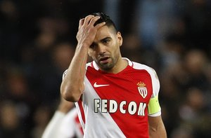 Britain Football Soccer - Manchester City v AS Monaco - UEFA Champions League Round of 16 First Leg - Etihad Stadium, Manchester, England - 21/2/17 Monacos Radamel Falcao looks dejected Reuters / Darren Staples Livepic