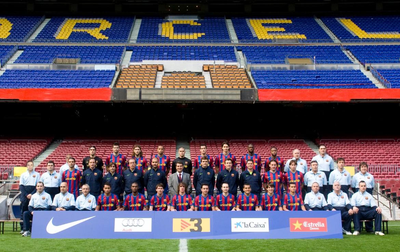 Plantilla del Barça 2009-2010.
