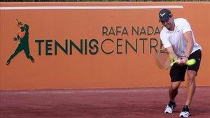 Nadal, en la inauguración del Rafa Nadal Tennis Centre en un resort de Isla Mujeres (México).