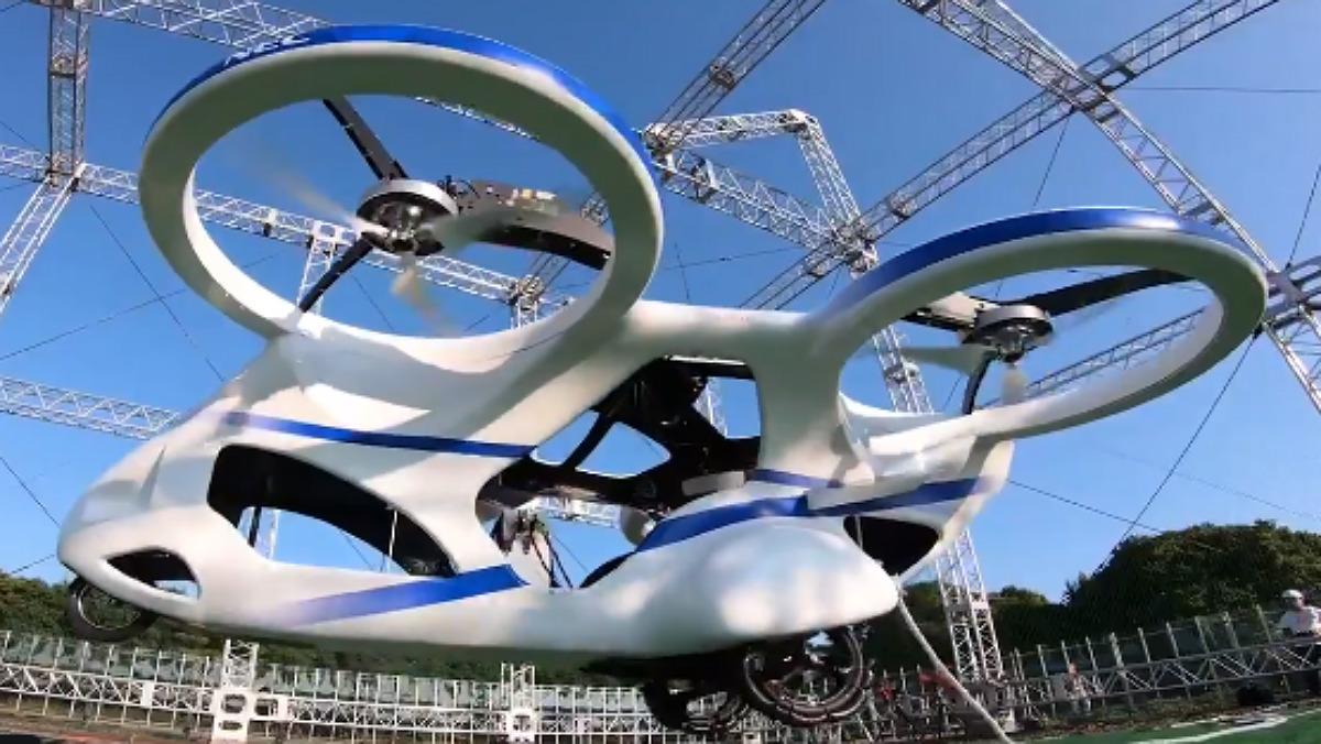 Així s'enlaira el cotxe volador del futur del Japó | VÍDEO