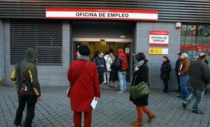 Oficina de empleo en el barrio de Arganzuela de Madrid.