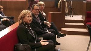 Ortega, Mas y Rigau, en el juicio por el 9-N.