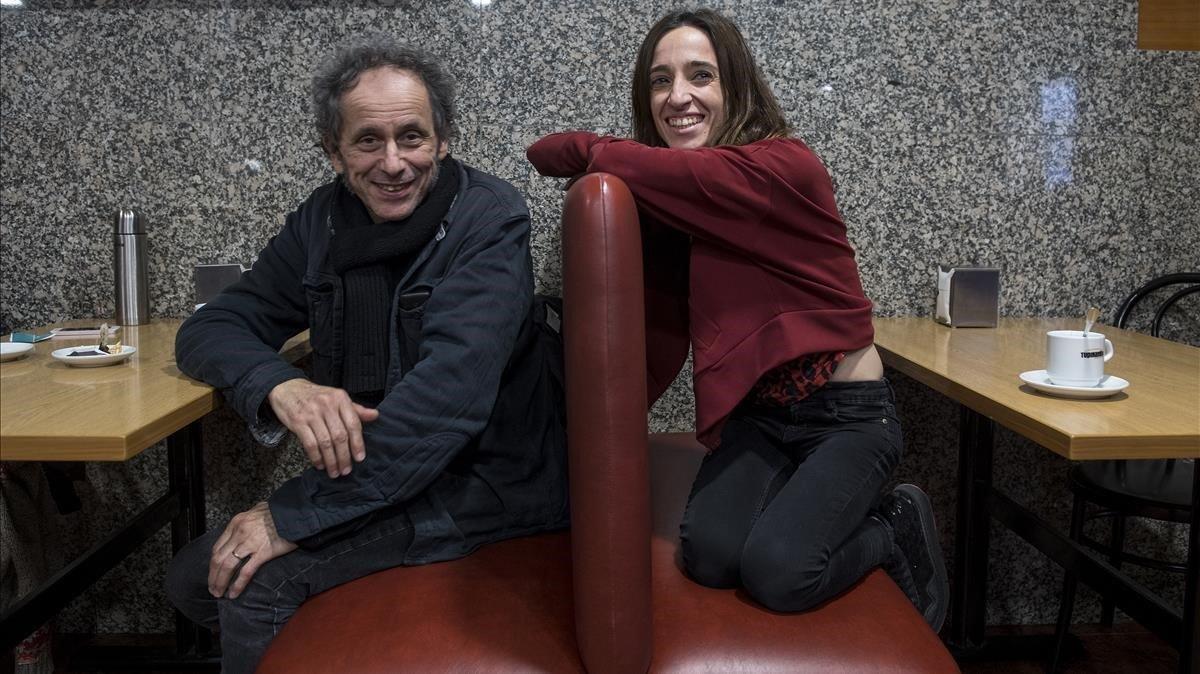Pascal Comelade e Ivette Nadal, lasemana pasada en Barcelona.