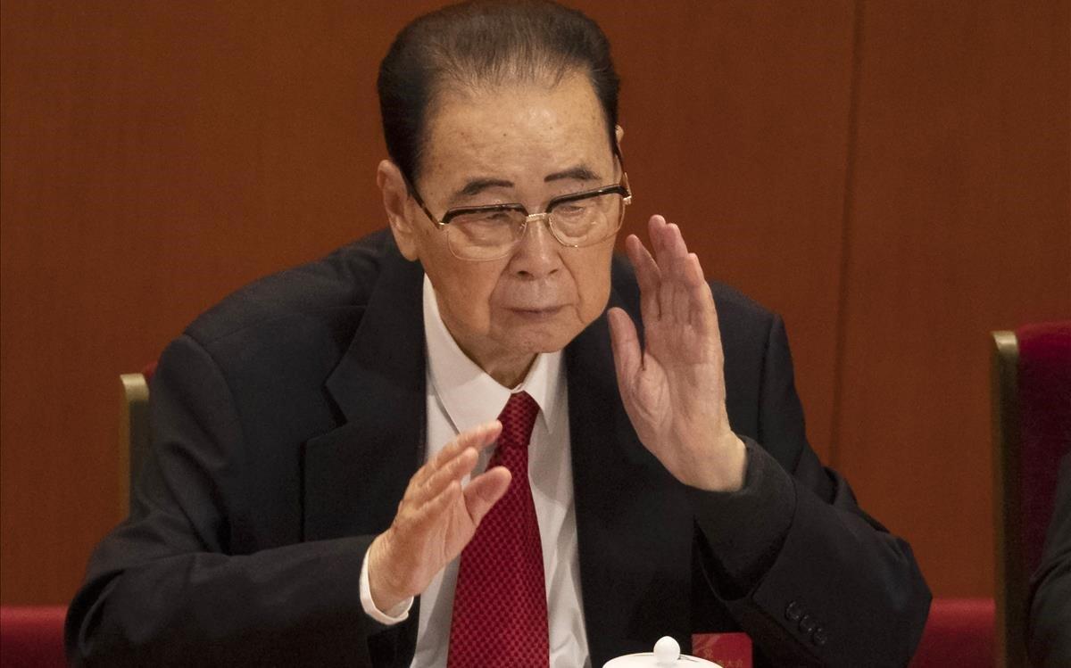 Li Peng, en octubre del 2017.