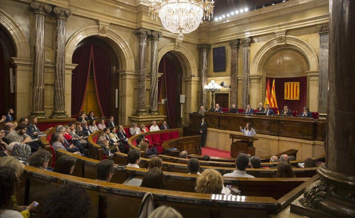Pleno del Parlament de Catalunya.