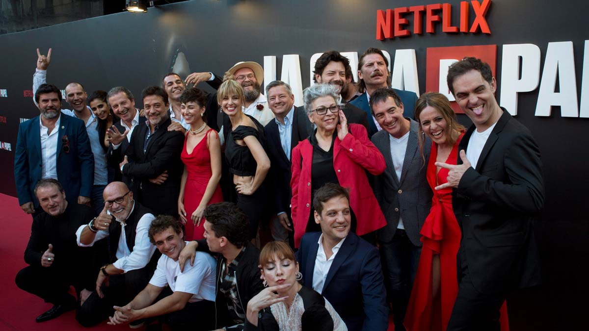 Premier de la tercera temporada de 'La casa de papel' (Netflix) en Madrid.