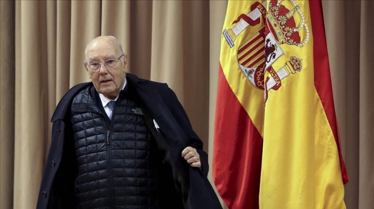 El presidente del Consejo de Estado, José Manuel Romay Beccaria, el pasado 17 de enero en el Congreso de los Diputados.