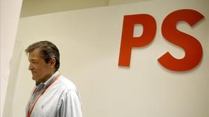 El presidente de la gestora del PSOE, Javier Fernández, el pasado 23 de octubre en la sede del partido.
