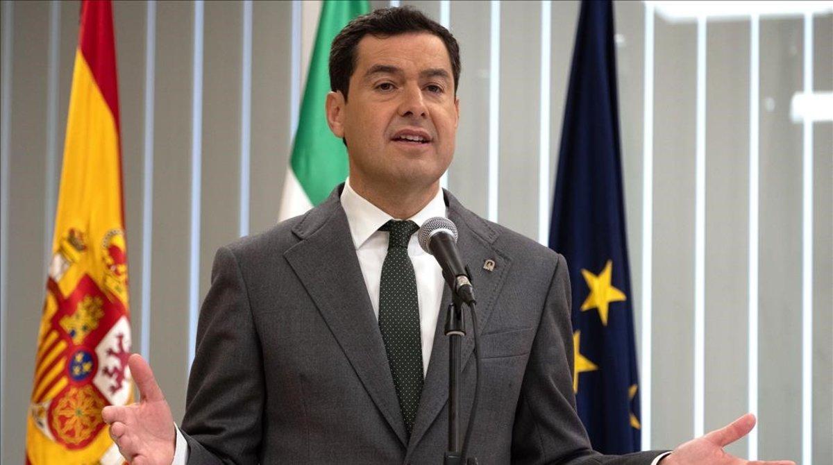 El presidente de la Junta de Andalucia,Juanma Moreno.