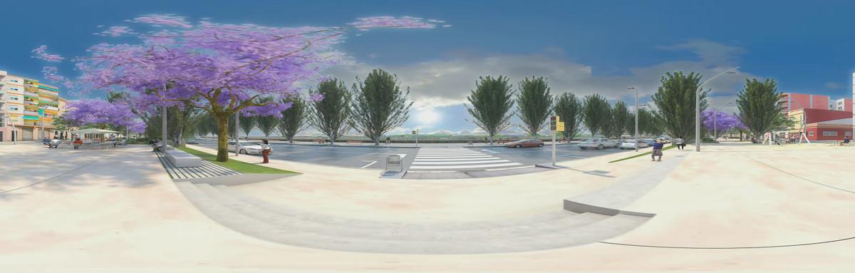 Primera propuesta del futuro diseño del paseo de la Salzereda, en Santa Coloma de Gramenet.