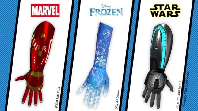 Pròtesis robòtiques d'Open Bionics basades en Disney.