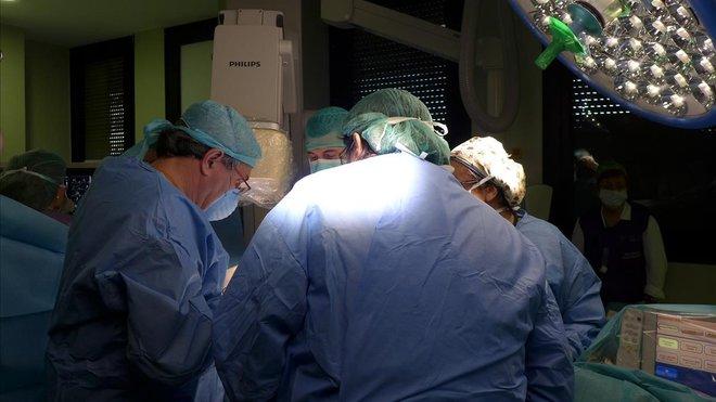 Un quirófano del Hospital Vall dHebron de Barcelona.