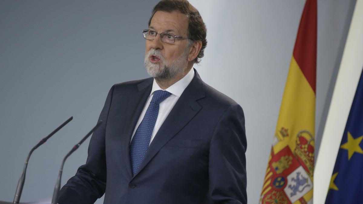 El presidente del Gobierno, Mariano Rajoy, en su comparecencia tras el Consejo de Ministros extraordinario.