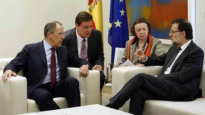 Rajoy rep Lavrov a la Moncloa amb la crisi de Crimea sobre la taula