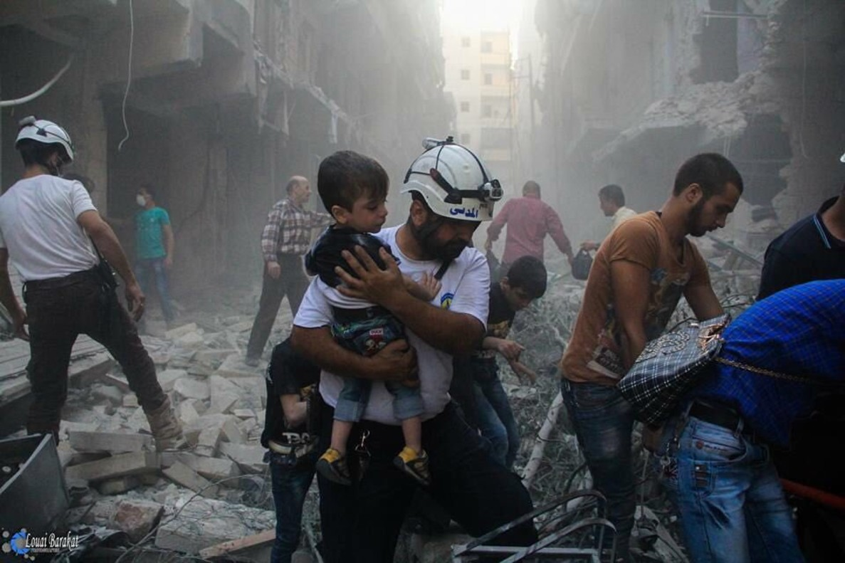 Operació de rescat dels Cascos Blancs a Síria.