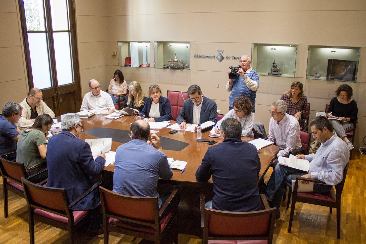 Reunión del equipo de gobierno de Terrassa para la propuesta del Presupuesto y las ordenanzas fiscales del 2020.