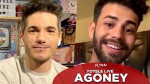 Ricky García y Agoney en YOTELE Live.