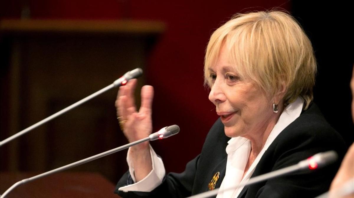 Rosa Maria Sardà, en un acto en la Universidad deZaragoza, el pasado 6 de noviembre.