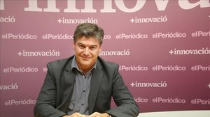 El presidente de la Plataforma Multisectorial contra la Morosidad, Antoni Cañete, en la sede de El Periódico, en una imagen de archivo.