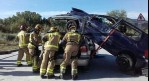 Una imatge del concursde rescats en accidents de trànsit.