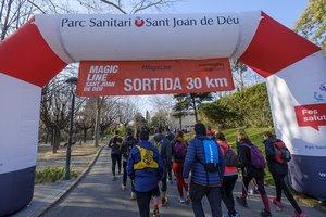 Salida de la 'Magic Line' desde el Parc Sanitari Sant Joan de Déu de Sant Boi de Llobregat.