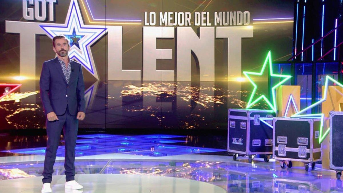 Santi Millán en el plató de 'Got Talent: lo mejor del mundo'.