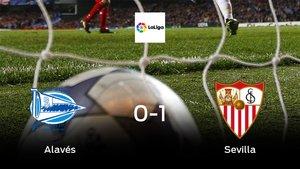 El Sevilla consigue los tres puntos después de vencer 0-1 al Alavés